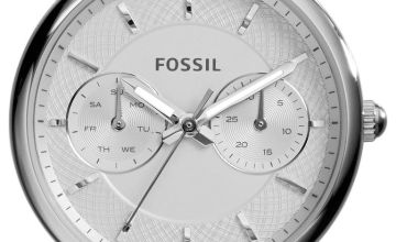 Fossil Ladies Tailor ES3712 Silver Tone Chronograph Watch