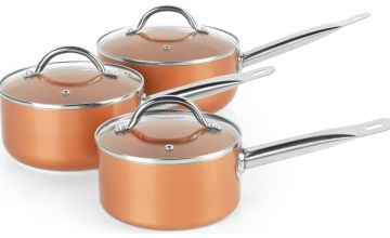 Salter 3 Piece Copper Ceramic Collection Pan Set