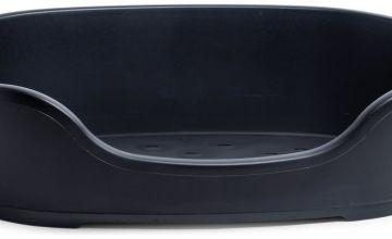 Petface Black Plastic Dog Bed - Large