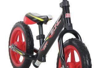 Sonic Drift Black 10 inch Wheel Size Kids Balance Bike