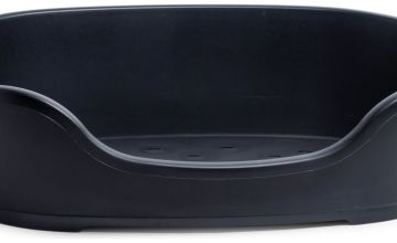 Petface Black Plastic Dog Bed - Medium