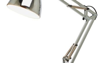 Argos Home Task Table Lamp - Chrome