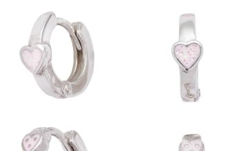 Revere Sterling Silver Kids Hoop & Stud Earrings Set of 3