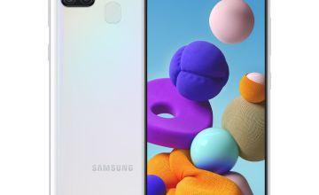 SIM Free Samsung A21s Mobile Phone - White