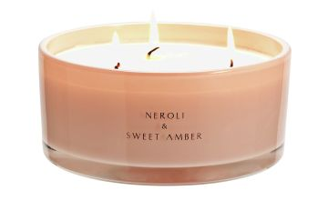 Argos Home Neroli and Amber Multiwick Candle