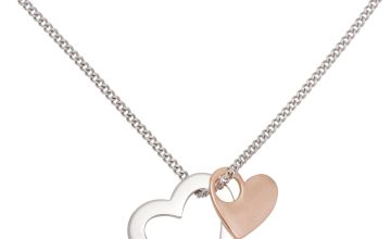 Moon & Back Sterling Silver 9ct Rose Gold Mummy Pendant
