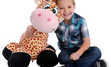 Inflate-A-Mals – Inflatable Plush Giraffe Ride-On