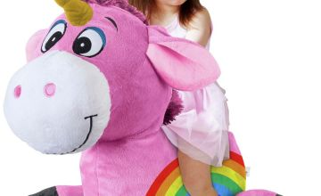 Inflate-A-Mals - Inflatable Plush Unicorn Ride-On