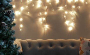 Argos Home 160 Warm White Icicle String Lights - 8m