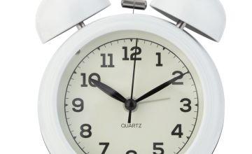 Argos Home Twin Bell Alarm Clock - White