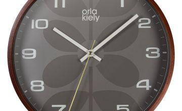 Orla Kiely Wooden Wall Clock - Grey