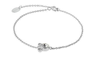 Disney Mickey Mouse Sterling Silver Cubic Zirconia Bracelet
