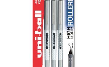 Uni-ball Eye Designer Pen 157D 3 Pack - Black