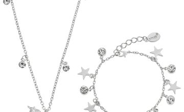 Emoji Unicorn Cubic Zirconia Pendant and Charm Bracelet Set