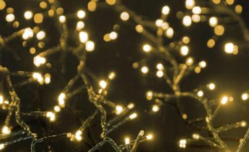 Premier Decorations 2000 TreeBrights & Timer - Vintage Gold