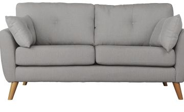 Argos Home Kari 3 Seater Fabric Sofa - Light Grey