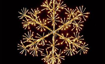 Premier Decorations 60cm Starburst Snowflake - Warm White