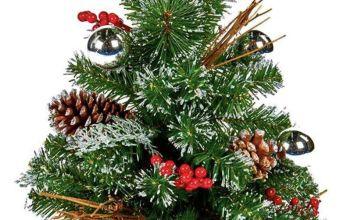 Premier Decorations 60cm Dressed Christmas Tree - Silver