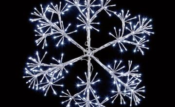 Premier Decorations 60cm Starburst Snowflake 300 LEDs -White