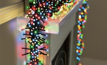 Premier Decorations 960 LED Clusters with Timer -Multicolour