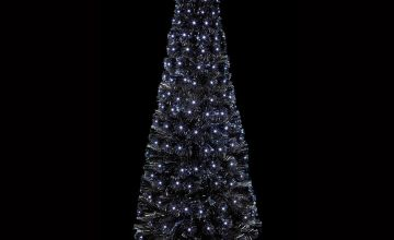 Premier Decorations 1.5 Metre Slim Black Fibre Optic Tree