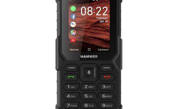 SIM Free HAMMER 5 Smart Rugged Mobile Phone - Black