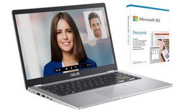 ASUS E410 14in Celeron 4GB 64GB Cloudbook - White