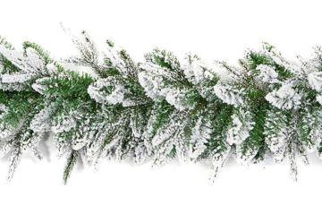 Premier Decorations 1.8 Metre Snow Garland