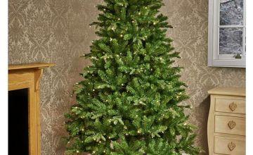 Premier Decorations 7ft Pre-lit Pine Christmas Tree - Green