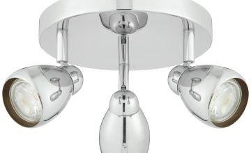 Argos Home Optimus 3 Light Spotlight Ceiling Plate - Chrome