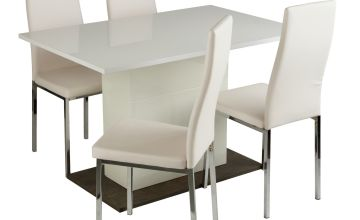 Argos Home Holborn White Gloss Dining Table & 4 Tia Chairs