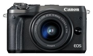 Canon EOS M6 Mirrorless Camera With 15-45mm Lens