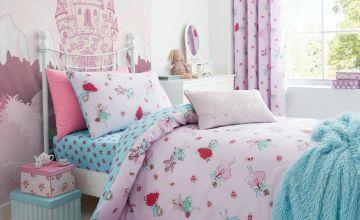 Catherine Lansfield Fairies Pink Bedding Set – Single