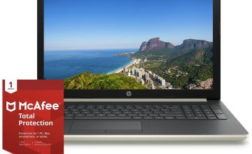 HP 15.6 Inch Ryzen 3 4GB 1TB Laptop - Gold