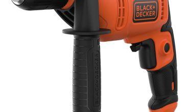 Black + Decker Keyless Corded Hammer Drill - 500W