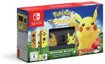 Nintendo Switch Console & Lets Go Pikachu Bundle