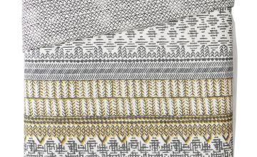 Argos Home Mono Textured Stripe Bedding Set