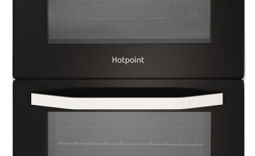 Hotpoint HD5V92KCW 50cm Twin Cavity Electric Cooker - White