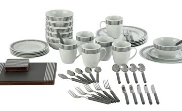 Argos Home 60 Piece Polka Dot Starter Dinner Set