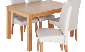 Argos Home Clifton Oak Dining Table & 4 Chairs