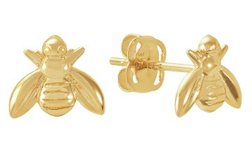 Revere 9ct Gold Bee Stud Earrings