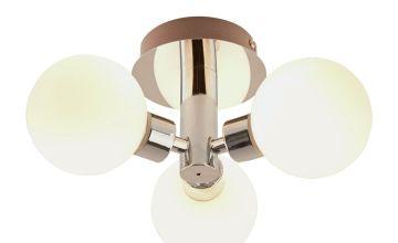 Argos Home Yuko 3 Light Bathroom Ceiling Light
