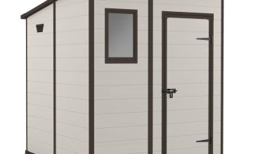 Keter Manor Pent Garden Storage Shed 6 x 6ft – Beige/Brown