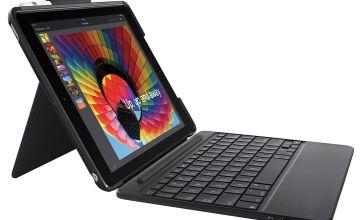 Logitech Slim Folio iPad Tablet Case with Keyboard - Black