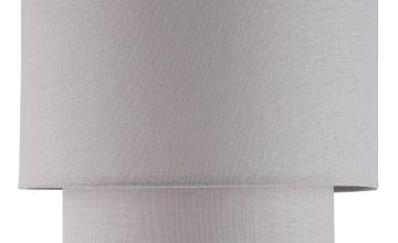 Argos Home Linen Effect Grey 2 Tier Shade