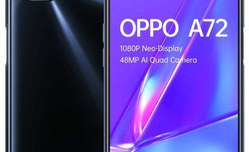 SIM Free OPPO A72 128GB Mobile Phone - Black