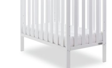 Obaby Bantam Space Saver Cot with Mattress - White