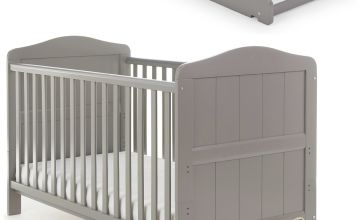 Obaby Whitby Baby Cot Bed and Cot Top Changer - Taupe Grey