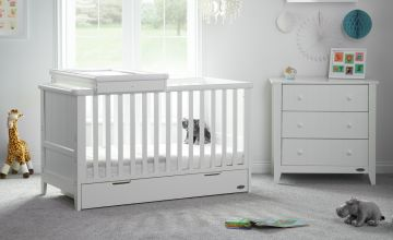 Obaby Belton 2 Piece Nursery Furniture Set - White