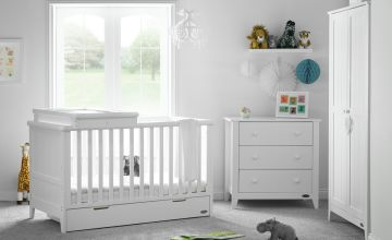 Obaby Belton 3 Piece Nursery Furniture Set - White